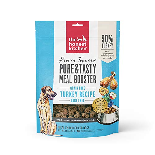 Price comparison product image The Honest Kitchen Proper Toppers: Natural Human Grade Dehydrated Grain Free Dog Superfood - Cage Free Turkey 14 oz