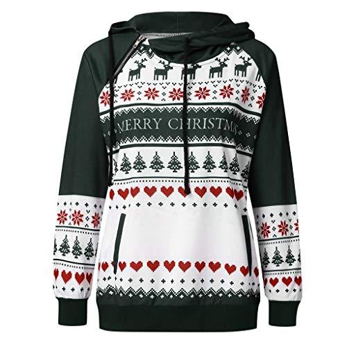 Kapuzenpullover Damen 2019 Mode Weihnachten Bunt Zum Bedrucken Sweatshirts Langarmshirt Hoodie Mit Motiv Oberteile