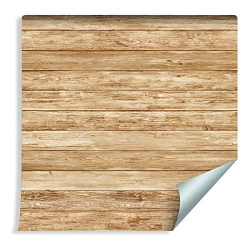 Muralo 63011309 - Papel pintado con láminas de madera horizontales (vinilo, imitación de madera cálida)