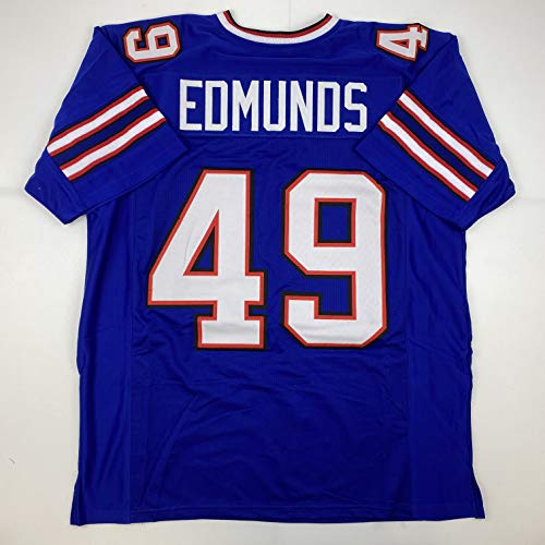 Unsigned Tremaine Edmunds Buffalo Blue Custom Stitched Football Jersey Size Men's XL New No Brands/Logos