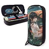 Estuche para lápices Ninfa de agua Moda Body Themed Pattern Impreso Mini School Pencil Case Holder Pouch Office Pen Box Zipper Bag Set Pu Leather Zip para niñas Niño Accesorios