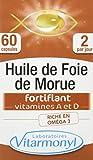 Vitarmonyl - Huile de Foie de Morue - Oméga 3, Vitamine A Et D d'Origine...