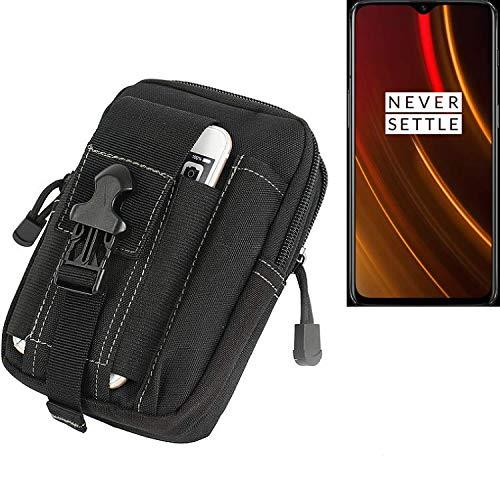 K-S-Trade® Gürtel Tasche Für OnePlus 6T McLaren Edition Gürteltasche Schutzhülle Handy Hülle Smartphone Outdoor Handyhülle Schwarz Zusatzfächer
