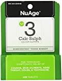 NuAge Homeopathic #3 Calcium Sulphate Tablets, Natural Relief of Coughs, Skin Ailments, Sore Throat, Colds & Toothache, 125 Count