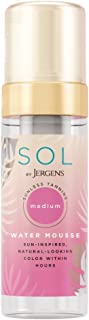 SOL by Jergens Medium Water Mousse, 5 Ounce, Water-based Self Tanner with Coconut Water, Dye-free Sunless Tanning Foam Der...