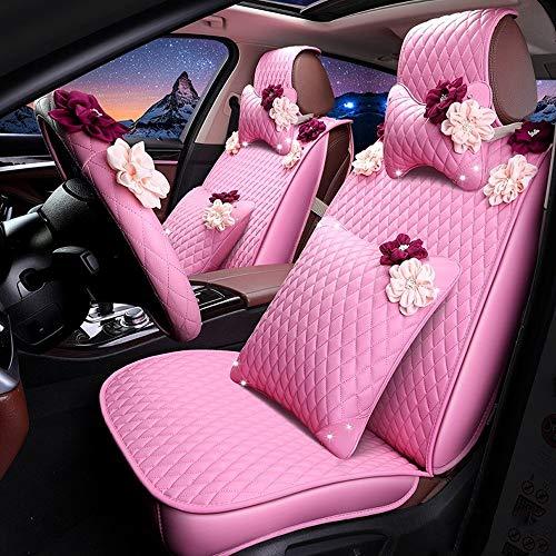 Cojín del asiento Car Seat Covers, Cuero Set Completo de 5 Asiento de