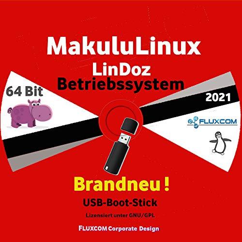 2021 Makulu Linux LinDoz 64 Bit, Live, deutsch auf 32GB USB-Boot-Stick