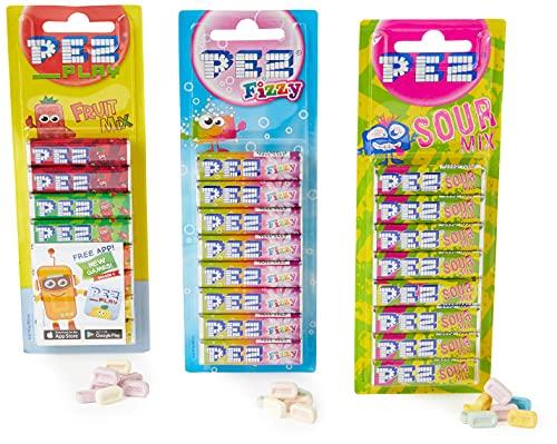 PEZ Dispensador de caramelos de recambio (1 fruta, 1 gaseoso, 1 agrio), PEZMIX1