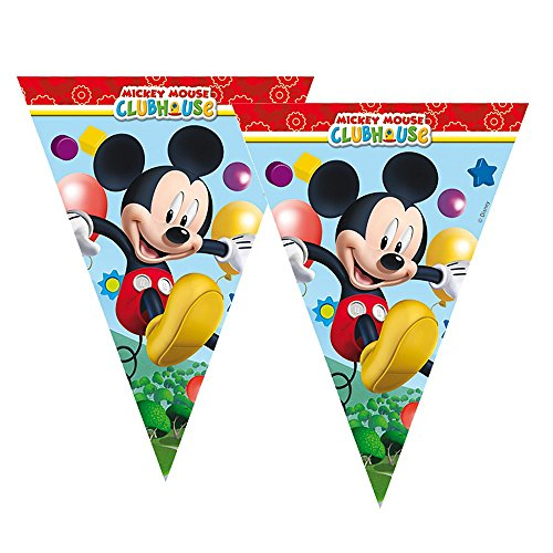 Mickey Mouse Fanion Bannière   Guirlande 2,30 m   Disney Fiesta de Cumpleaños