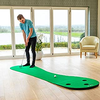 FORB Home Golf Putting Mats [2 Sizes] | Deluxe Indoor Putting Practice (3 Holes) | Golf Training Aid | Putting Green Golf Trainer | Golf Putting Greens for Indoor Use (10ft)