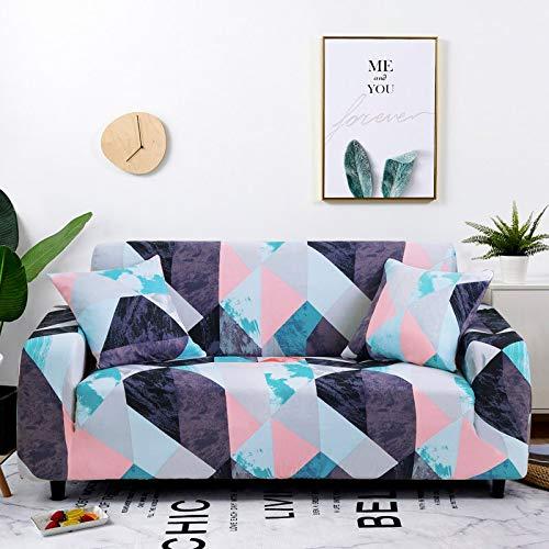 WXQY Sala de Estar Funda de sofá elástica con Todo Incluido Funda de sofá elástica a Prueba de Polvo en Forma de L sofá de Esquina Toalla Funda de sofá A19 4 plazas