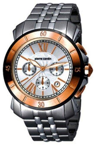Pierre Cardin PC100701F03 - Reloj de caballero automático con correa de acero inoxidable plateada - sumergible a 30 metros