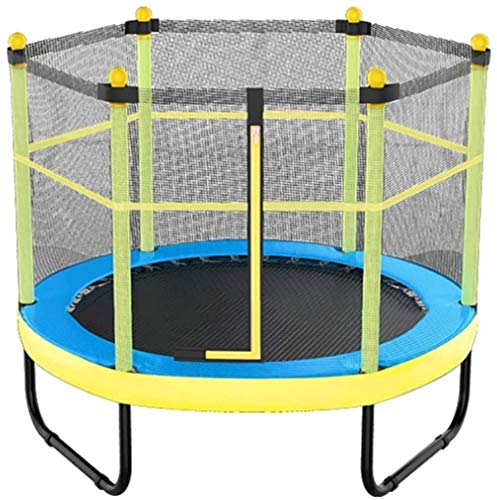 JISHIYU Children's trampoline Adult fitness Bouncing bed with protective net Comfortable jump cloth U-shaped feet Stable mute 300Kg(60in) (Color : 60in|Blue)