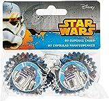 3181; set de 60 cápsulas para Mini cupcakes en bolsa Disney Star Wars; ideal para decorar tus fiestas y cumpleaños