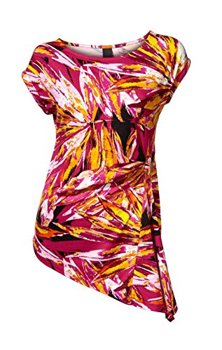 Heine - Best Connections Damen-Shirt Druckshirt mit Zierelement Mehrfarbig Größe 34