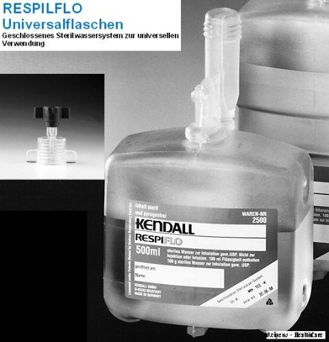 Sterilwasser RESPIFLO 500 ml mit Adapter 1 Karton Inhalt 15 Stück
