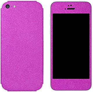 Slickwraps Glitter Collection Protective Film for iPhone 5c - Pink Glitz - Skin - Retail Packaging - Pink Glitz