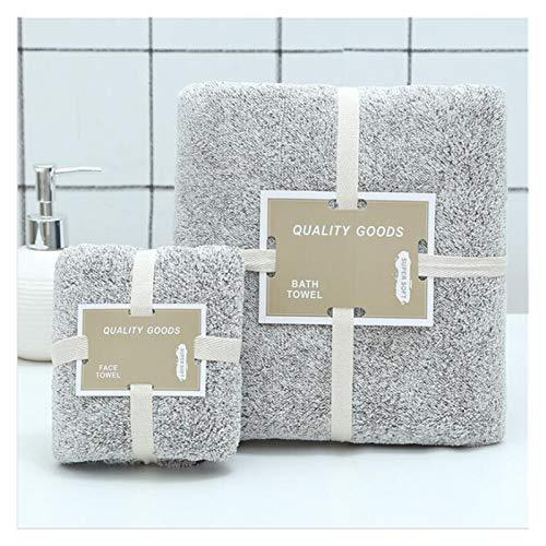 Toalla De Algodon Toalla de baño de terciopelo de coral de carbón de bambú para adultos, absorbente absorbente para adultos, conjuntos de toallas de baño de fibra de carbono, conjuntos de bambú.