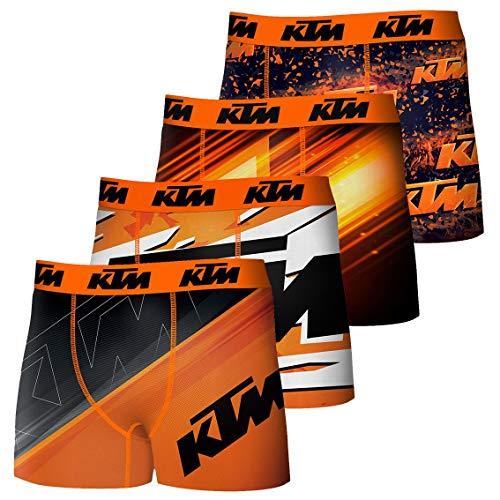 KTM Boxershorts Herren, Mikrofaser, mehrfarbig, 4 Stück Gr. M, mehrfarbig
