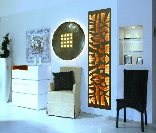 Badheizkörper Design Mosaik 3 + LED, HxB: 180 x 47 cm, 1118 Watt, Edelstahl/weiß mit LED-Beleuchtung, Mittelanschluß (Marke: Szagato) Made in Germany/Bad und Wohnraum-Heizkörper