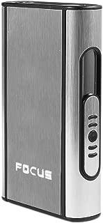 Piioket Pocket Aluminium ABS Automatic Ejection Cigarette Dispenser Case Box Holder, Focus - Silver