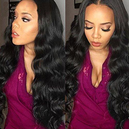16 18 20inches Brazilian Body Wave Virgin Hair 3 Bundles, Grade 5A Brazilian Hair Weave Extensions Natural Color Full Head