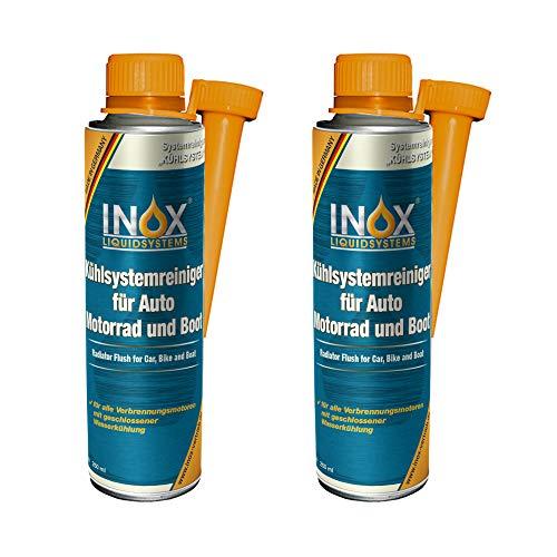 INOX Aditivo Limpiador del Sistema de refrigeración, 2 x 250 ml - protección del radiador para el Coche, el Motor y el Barco