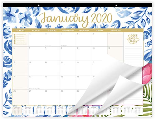 "bloom daily planners 2020 Desk/Wall Monthly Calendar Pad (January 2020 - December 2020) - Large 21"" x 16"" Hanging or Desktop Blotter - Seasonal Designs"