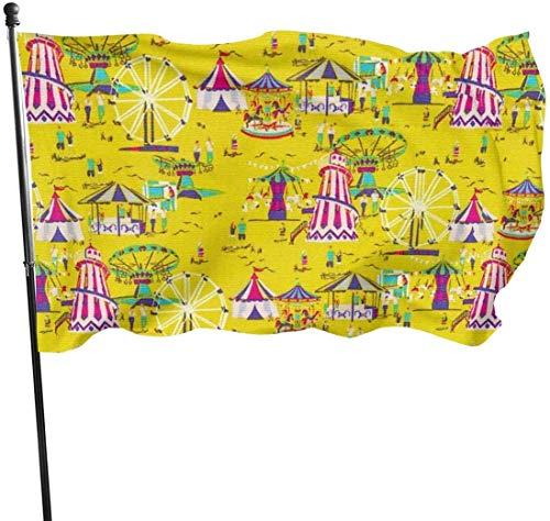 Bandera de Circo para jardín al Aire Libre, 3 x 5 pies, Bandera de EE. UU, poliéster, Resistente a la decoloración, Vallas Decorativas, jardín, Patio, césped.