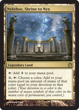 Magic The Gathering - Nykthos, Shrine to Nyx (223/249) - Theros