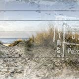Cuadros Lifestyle Cuadro de madera | Cuadro de madera | Aspecto Shabby | Casa de campo | Vintage | Regalo Tamaño: aprox. 50 x 50 cm