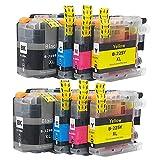 SXCD LC229XL LC225XL Cartuchos de Tinta para su Hermano, reemplazo para el Hermano MFC-J5320DW J5620DW J5720DW J4620DW Cartucho de impresión de Alta Rendimiento Compatibl Combination x 2