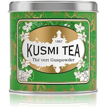 Kusmi Tea -Thé Vert à la Menthe - À Déguster Chaud ou en Thé Glacé - Boisson Désaltérante Traditionnelle - Véritables Feuilles de Menthe - Boîte Thé Métal 250 g - Environ 100 Tasses