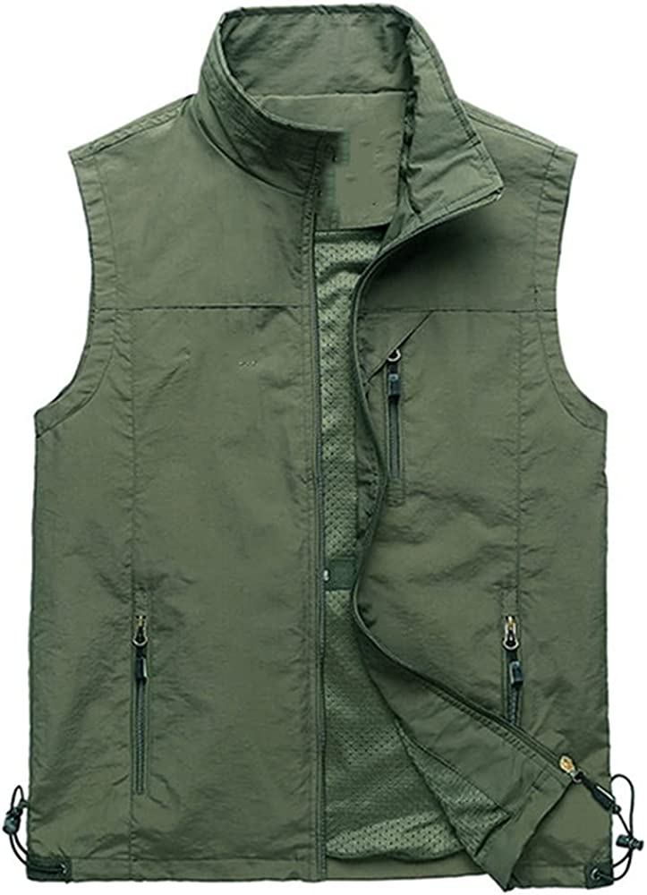 Men's Casual Vest Thin Sleeveless Spring Summer Autumn Travels Work