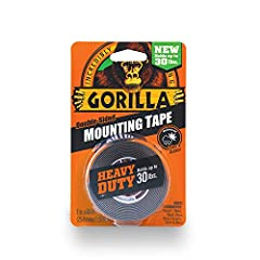 Toughest industrial strength mounting tape available Best for projects where typical fasteners won't work, it sticks to rough and smooth surfaces alike; Holds up to 30lbs Weatherproof for indoor and outdoor use Double Side Tape; Coated with adhesive ...