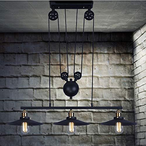 Luce Plafoniera Bolas de metal elevable ruedas retráctiles lámpara de hierro, liso en color, fácil de manejar El cuerpo de la lámpara 90 * 60cm de la lámpara - Bar Lámparas,