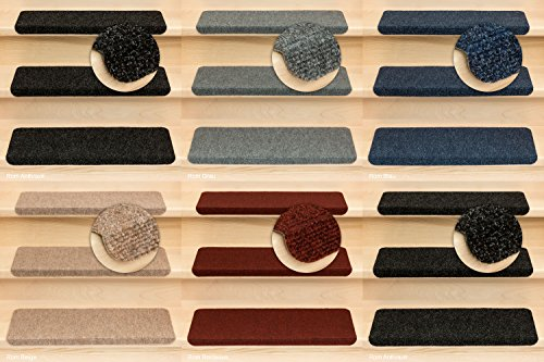 Kettelservice-Metzker Stufenmatten Ramon MW in verschiedenen Set Varianten | Rechteckig mit Winkel | Anthrazit 14 Stück