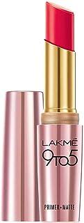 Lakme 9 to 5 Primer + Matte Lip Color, Scarlet Surge, 3.6 gm