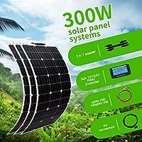 ソーラーパネル100W、200W、300W、12V、24VバッテリーヨットRV車のボートの充電器のためのセミフレキシブルな18Vパネル太陽光発電,300w