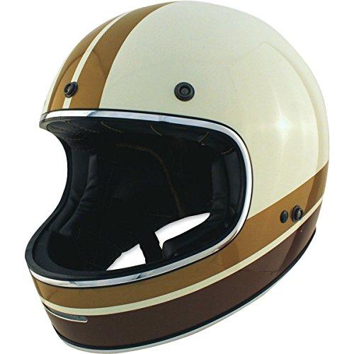 Zox Blitz Vogue Adult Street Motorcycle Helmet - Cream/Medium