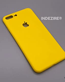 INDEZIRE Plastic Back Mobile Back Cover Phone Case for i-Phone 7 Plus (Yellow)