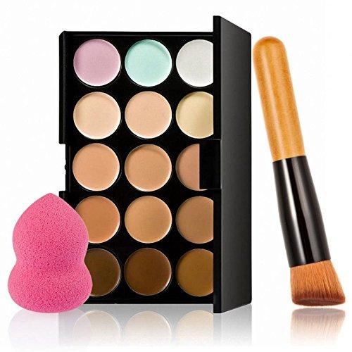 15 Couleurs Correcteur Crème de Camouflage Palette de Maquillage Poudre - # 4