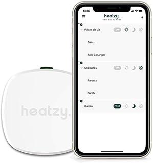 HEATZY - Objet Connecté - Programmateur/Thermostat Connecté et Intelligent Filaire - Pour choisir à distance le mode de ch...