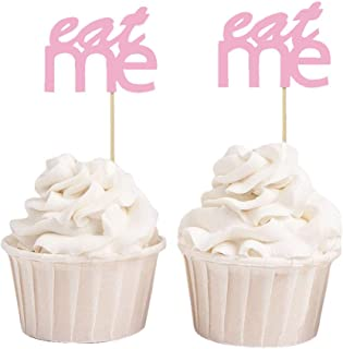 Darling Souvenir, Eat Me Wedding Cupcake Toppers, Baby Shower Party Dessert Decorations Picks - Pack Of 20
