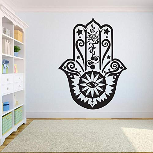 ganlanshu Adesivo murale Palma Loto Decalcomania della Parete del Vinile Yoga Palestra Palestra Decalcomania a Forma di Palma Camera da Letto Decorati
