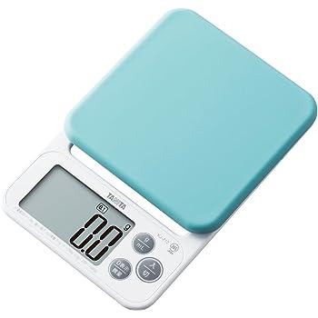 タニタ はかり スケール 料理 洗える 2kg 0.1g ブルー KJ-212 BL