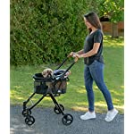 Pet Gear View 360 Pet Stroller Travel System 3-in-1 Carrier, Booster Seat and Stroller with Push Button Entry, Silver Pearl (PG8140NZSP) 11