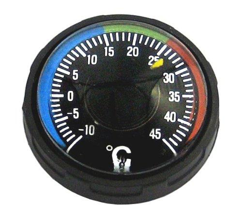 ミザール 温度計 リストサーモメーター 大型 ブラック 60D