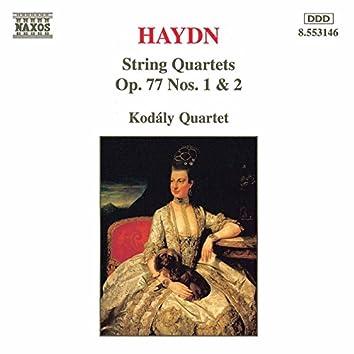 Haydn: String Quartets Op. 77, Nos. 1- 2