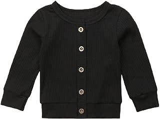Seyurigaoka Newborn Baby Boys Girls Knit Cardigan Sweater, Infant Button-Down Cotton Sweater, Unisex Baby Clothes